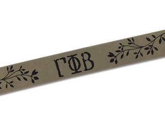 Gamma Phi Beta Cuff Bracelet