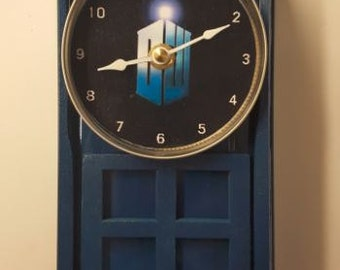 Dr. Who Tardus Clock, Made to Order