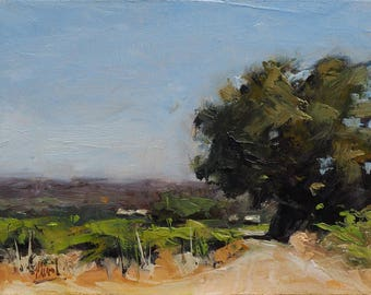 vineyard in provence oil painting landscape - Oil Painting