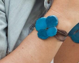 Hydrangea 1 flower Bracelet