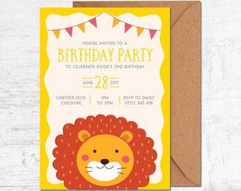 Animal Birthday Invitation, Zoo Birthday Invitation, Summer Birthday Invite, Safari Birthday Invitation, Kids Birthday Invite, Kids Party