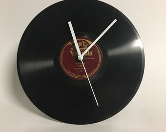 Vintage, old record Vinyl Record Clock