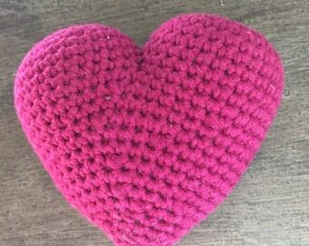 Heart Purple crochet