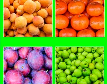 kitchen wall decor, kitchen wall art, Fruit print, Fruit art, Kitchen decor,  food photography, food art,