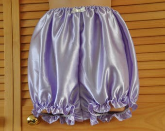 """Silky soft lilac satin bloomers, 46"""" waist Sissy Lingerie"""