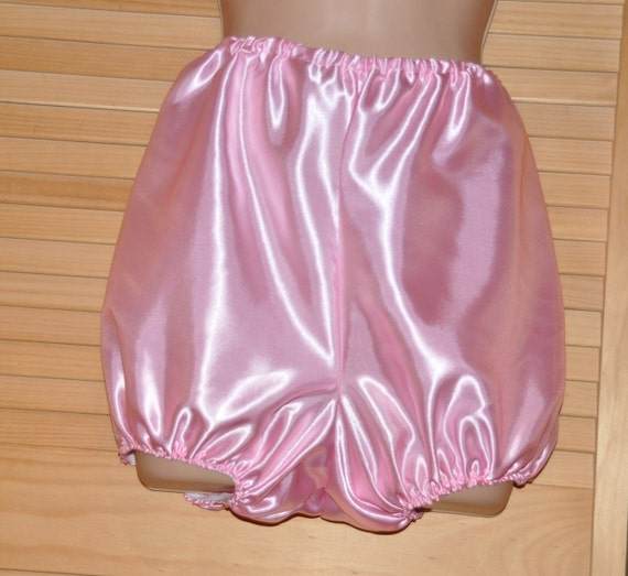 """Lovely sissy baby pink satin bloomers / knickers, 38"""", Sissy Lingerie"""