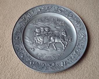 Hallmark Little Gallery Pewter Plate 1986