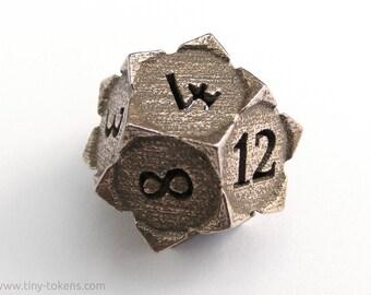 Steel D12 ' Starry' - Balanced twelve sided gaming die