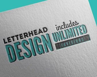 Letterhead Design, Custom Letterhead Design, Professional Letterhead Design, Unlimited Revisions, Modern Letterhead Design