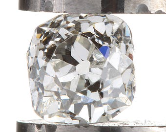 Diamond loose old mine cut .32 carat antique vintage |  J  |  Si1  | antique cushion brilliant cut diamond | circa 1800's