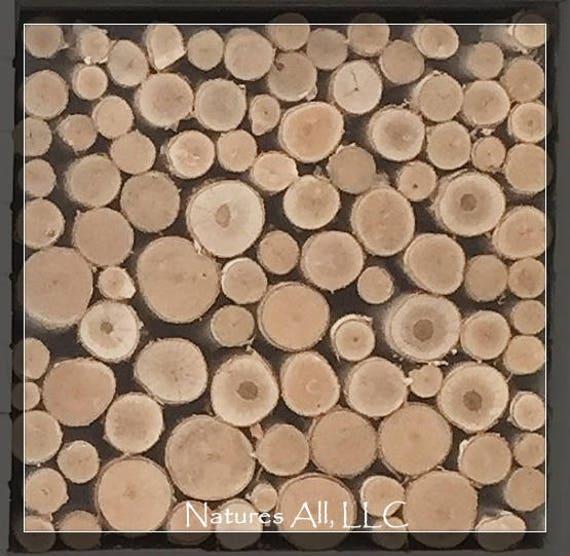 Empty Fireplace Decor/Fill A Space/Decorative White Birch Logs/Farmhouse Decor/Rustic Home Decor/Item:WBFS-4000