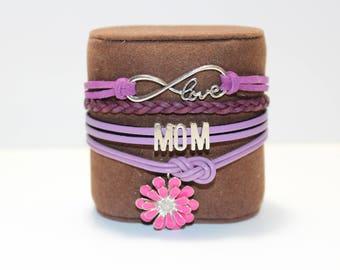 Mother's Day Leather Bracelet