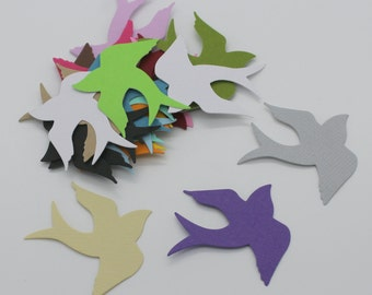 Bird swallow: lot of cut die - cut