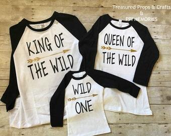 Wild one birthday shirt, family birthday shirt, wild things, wild one