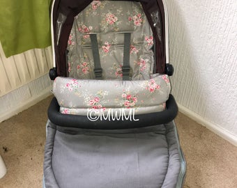 Rose Footmuff, Flower Footmuff, Buggy Cover, Pushchair Liner, Couture Footmuff, Pushchair Cover, Buggy Footmuff, Grey Footmuff, Pram Liner