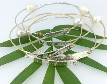 Customize your own word/name bangle