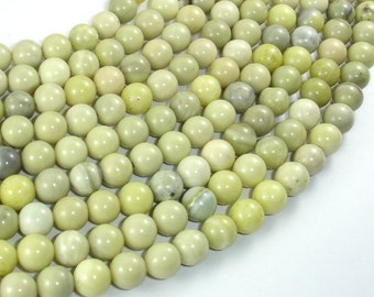 Butter Jade, 8mm Round Beads, 16 Inch, Full strand, Approx 50 beads, Hole 1mm (176054002)