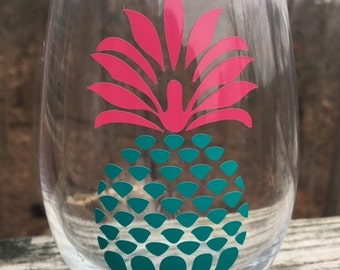 Pineapple Stemless Wineglass