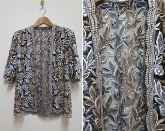 FREE SHIPPING, Vintage Lace blazer, Hippie blazer, Boho blazer, Summer Clothes