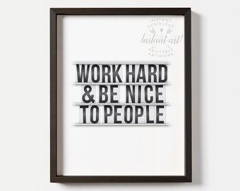 Items similar to work hard quote office wall art for Inspirational items for office