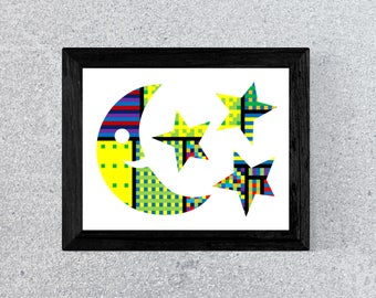 Man in the Moon Print - Man in the Moon Decor - Man in the Moon Wall Art
