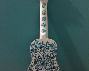 Painted ukulele