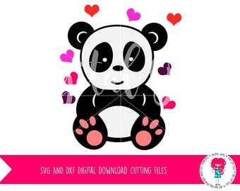 Panda Bear SVG / DXF Cutting File for Cricut Design Space / Silhouette Studio, Digital Download, Commercial Use OK
