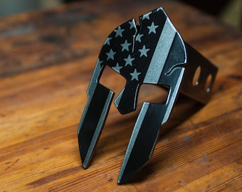 Subdued American Spartan Trailer Hitch Cover