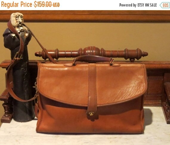 Football Days Sale Coach Stanton Briefcase In British Tan Leather With Cross Body Strap Style No. 5272 - Pre Orderly Creed- Made In U.S.A.-