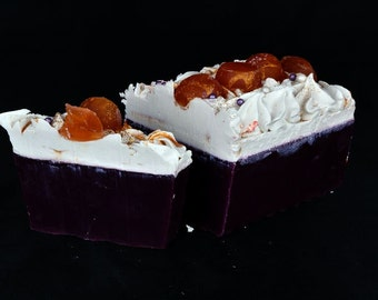 Patchouli Soap with Fig, Sandalwood and Cassis, Handmade Soap, Cold Process Soap, Fig Soap