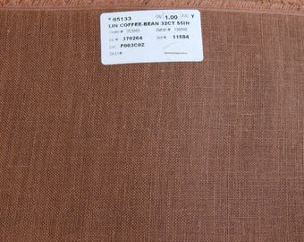 32 ct. Coffee Bean Linen 1/8th yard pricing