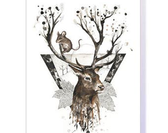Stag & Mouse Greeting Cards