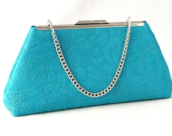 Turquoise Bridesmaid Purse Clutch Handbag