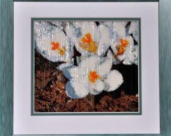 Beaded Tapestry of Spring Flowers