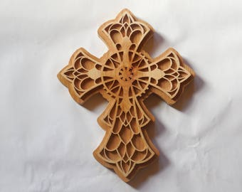 layered filigree cross