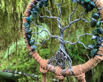 Moss Agate Tree of Life Dreamcatcher