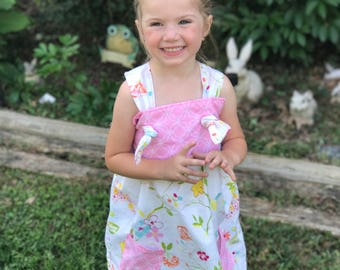 Toddler girl clothes, girl clothes, knot dress, knot tunic