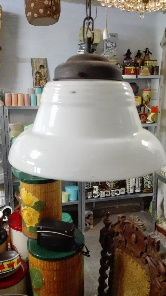 Barn find - 30's Art deco glas hanging lamps