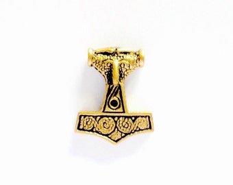 Small Thor's Hammer from Skanne, Sweden VIKING KRISTALL bronze pendant