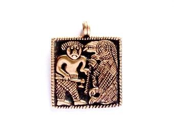 Viking vendel helmet VIKING KRISTALL bronze pendant