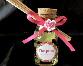 Mini square glass bottle reed diffuser favors