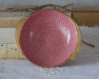 Royal Winton Gimwades Pink Dish - Pink and gold trim - Diamond design
