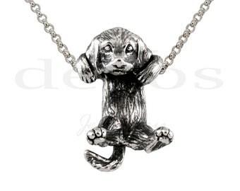 Golden Retriever Puppy Pendant