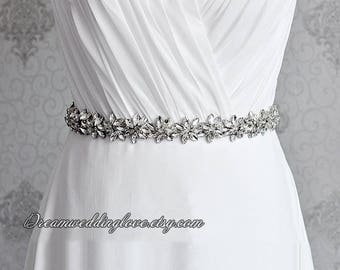 Bridal Sash belt ,Wedding Dress Sash Belt, crystal sash,Rhinestone Sash, wedding dress belt, Bridal Bridesmaid Sash Belt