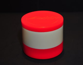 Hipster Must Have! Vintage 1970s Red Aladdin Thermos Jar & Freezer Lid Insulated 6 OZ Model #7000, Excellent