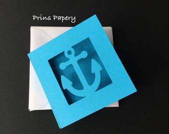 Blue Anchor Mini Note Cards with Envelopes 6