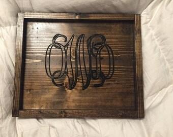 personal tray, jewelry tray, monogram tray,