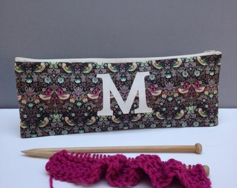 Liberty Print Personalised Knitting Needle Case/Knitting bag/ProjectBag/KnittingGift/Knitting needle storage/Liberty Projectbag/GemimaLondon