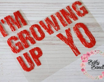 I'm Growing up YO; Vinyl transfer.