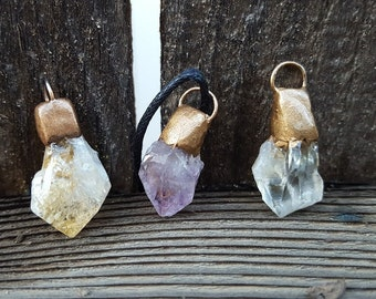 Amethyst / Citrine Pendant Necklace